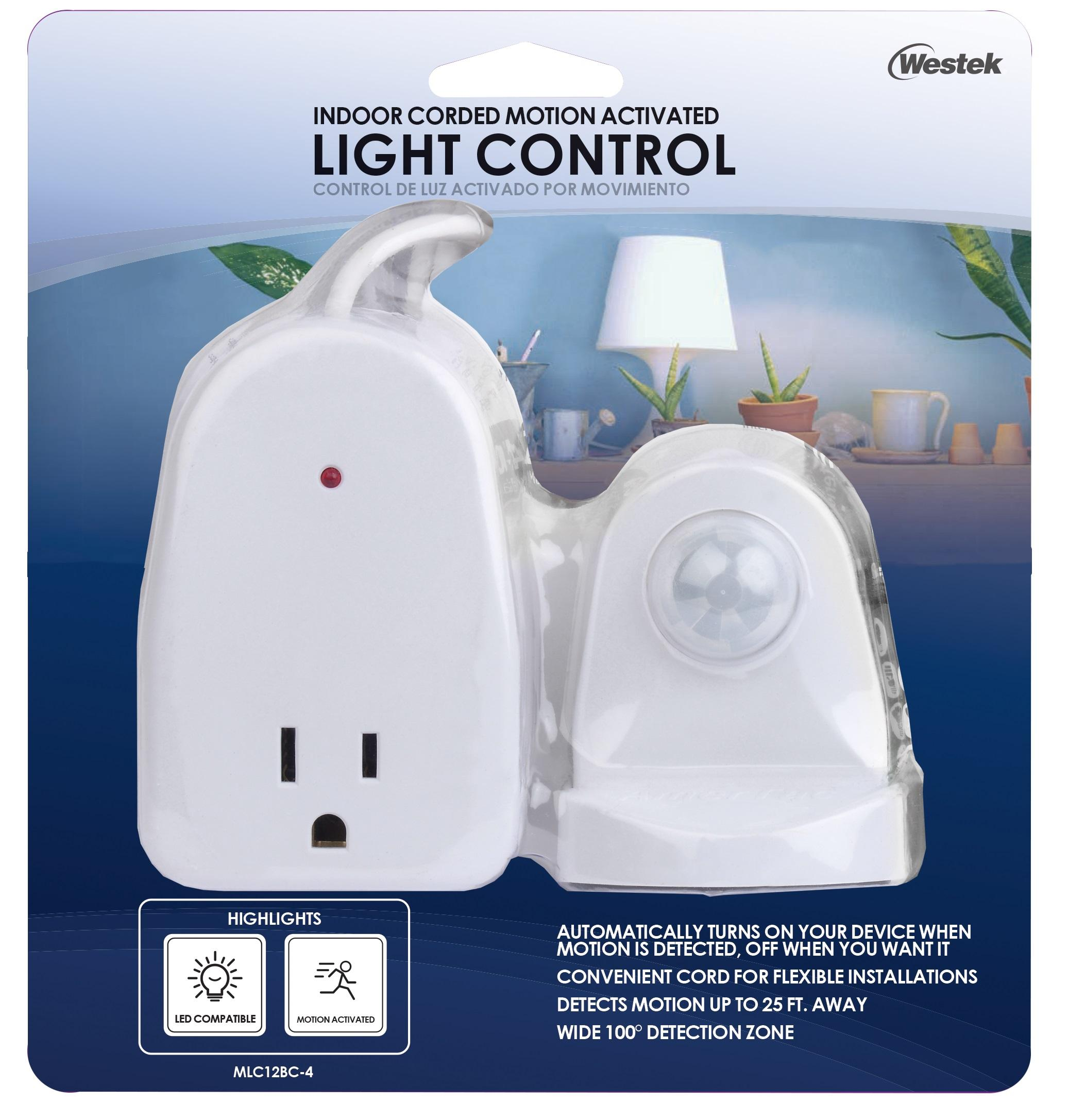 Outdoor Post Eye Light Control: Westek MLC12BC-4 Indoor Plug-In Corded Motion Activated