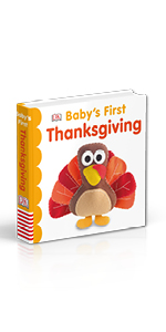 "Book cover for DK's ""Baby's First Thanksgiving"""