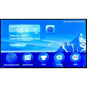 ai ultra low glacier freezer 86c controller interface sample storage
