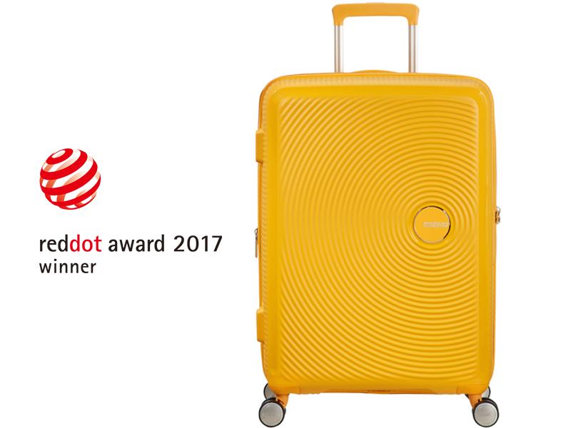 Soundbox; American Tourister; Suitcase; Golden Yellow; Red dot award