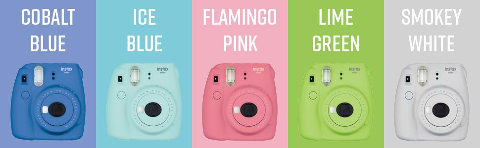 Different color options in Instax Mini 9