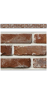 Red Brick Straight Border Trim