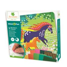 chevaux;sycomore;stick;fun;loisir creatif;jeux;jouets;mosaique