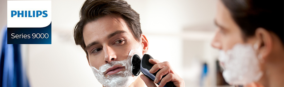 Philips Serie 9000 S9711/41 - Máquina de afeitar con cabezales de 8 direcciones, seco/húmedo y 3 modos, 60 min de batería incluye perfilador de barba con 5 posiciones y funda de viaje,