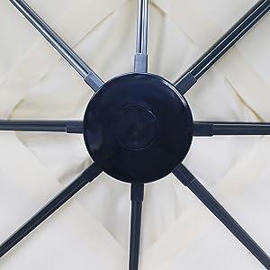 Chillvert KCH220 - Parasol Jardín Alumnio Florencia 300x300x235 cm: Amazon.es: Jardín