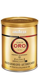 lavazza, qualita, oro, gold, espresso, coffee, tin, can
