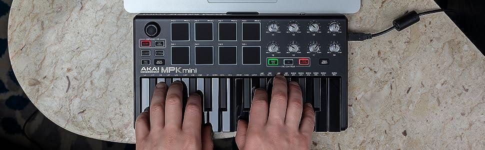 Teclado controlador MIDI USB portátil con 25 teclas