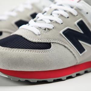 New Balance Men's Iconic 574 Sneaker, Burgundy, 14 4E US