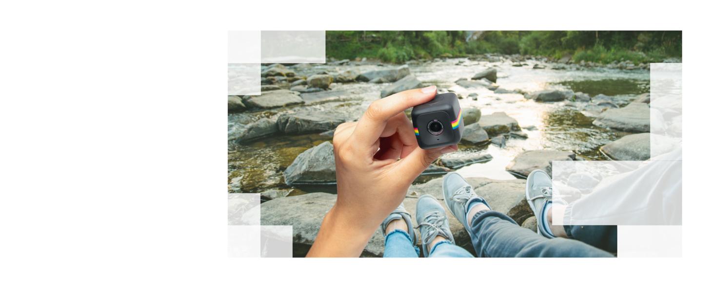 Polaroid cube power on