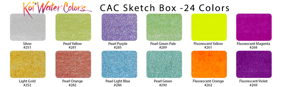 Koi Water Colors CAC 24 Color Chart 1