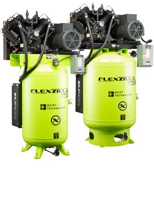 flexzilla stationary air compressors 10HP 80 120 Gallon