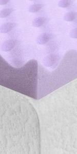 egg crate memory foam topper