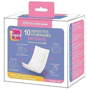 TIGEX compresas maternidad caja 10 uds: Amazon.es: Bebé