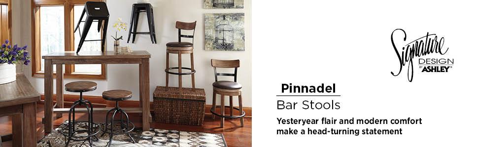 pinnadel bar stool barstool stool barstools signature design by ashley