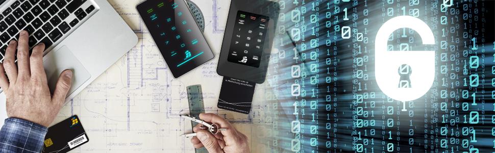 Externe portable verschlüsselte Festplatten mit Hardware-Verschlüsselung Datenschutzgrundverordnung