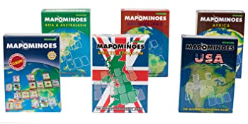 Mapominoes Family Games like dominoes with maps for kids and adults