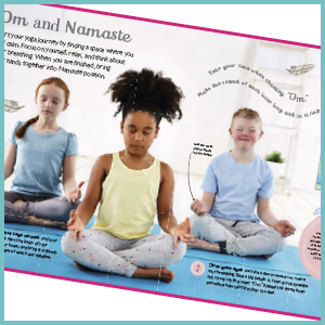Interior image from DK's Yoga for Kids book