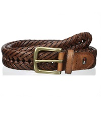 mens braided leather belt