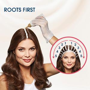2. Apply to the roots first