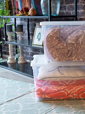 Boîte de rangement en plastique transparent New Carry Stocker par Iris Ohyama