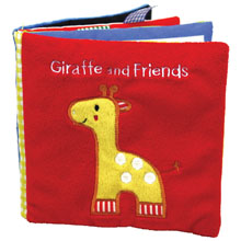Giraffe and friends, giraffe book, giraffe cloth book, cloth book, friends cloth book