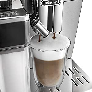 milk frother coffee machine; delonghi