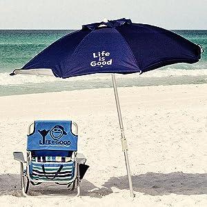 Amazon.com : Life is Good ALIGUMB-BP-1PK Beach Umbrella