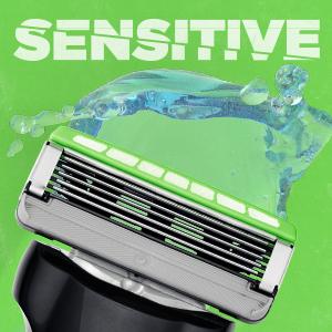 schick hydro 5 sense mens face razor blade refill cartridge blades sensitive hydrate Gillette fusion