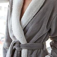 Gray Keila Sherpa Robe