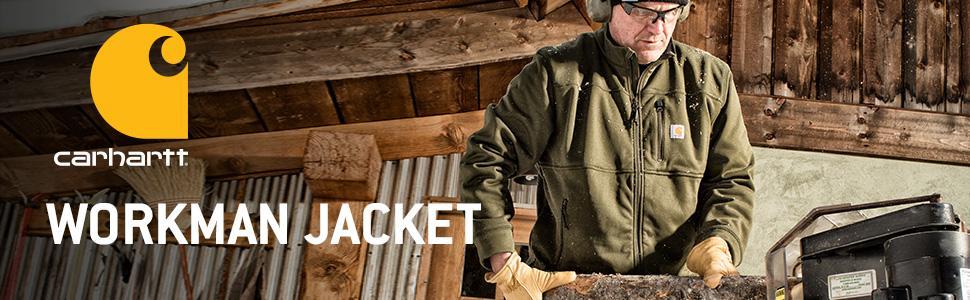 72cc6f4c780 Amazon.com  Carhartt Men s Workman Zip Front Jacket  Clothing