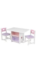 Ensemble table et chaises Coeur Kidkraft, Meubles KidKraft, Meubles pour enfants KidKraft