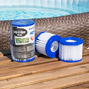 BESTWAY LAY-Z-Spa le cartucce filtro 2 x TWIN PACK DI FILTRI