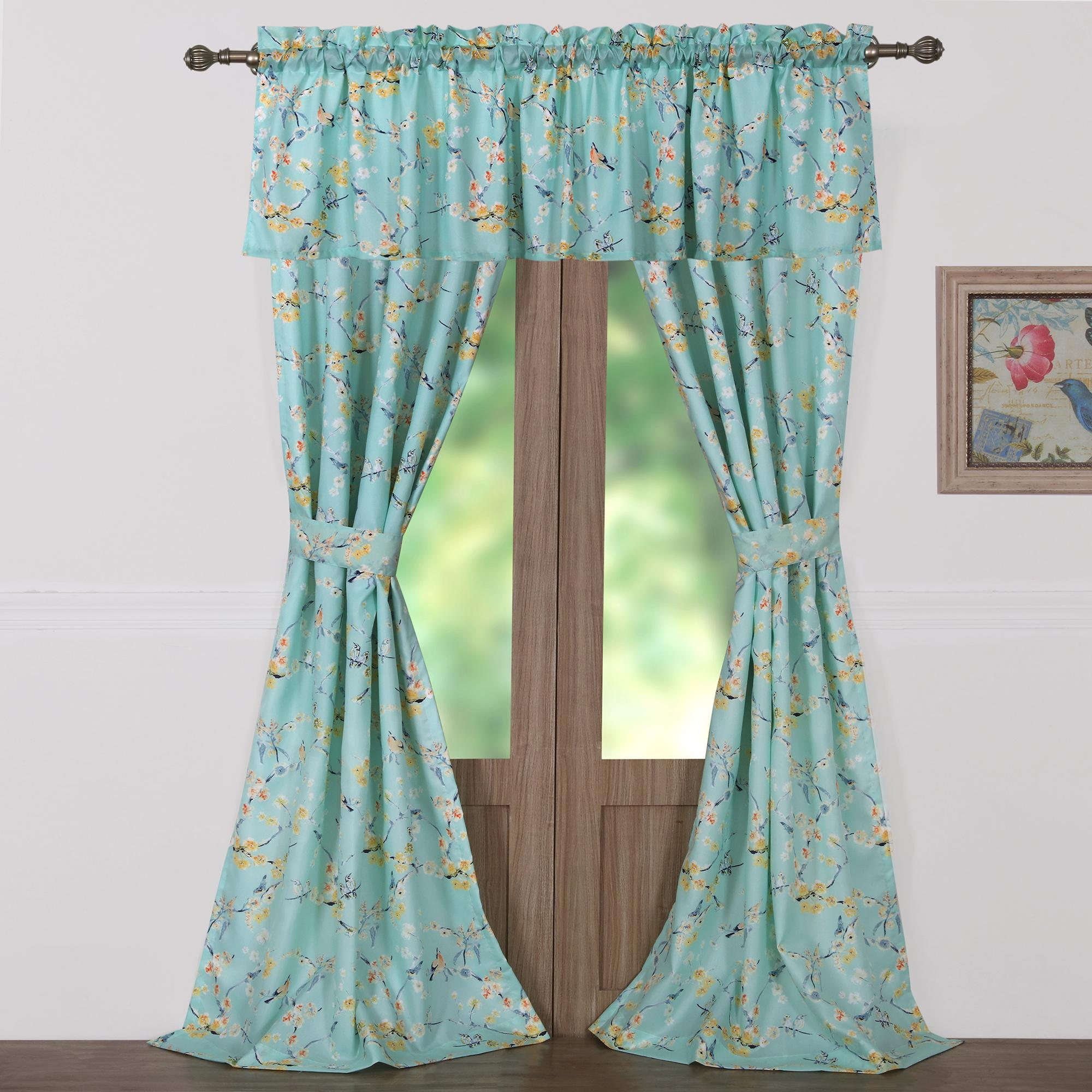 valance damask window complete set panels tone ip curtain dalton and walmart curtains mainstays com included
