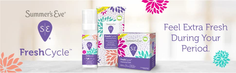 Summer's Eve Fresh Cycle | Feel extra fresh during your period.