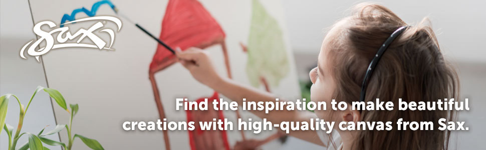 Find the inspiration to make beautiful creation with high-quality canvas from Sax.