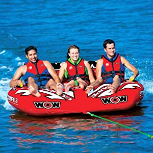 Wow World of Watersports 2 Person Coupe Cockpit Tow Tube Red