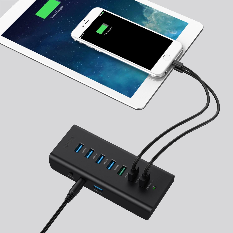AUKEY CB-H19 USB 3.0 Hub 4 Port SuperSpeed 5Gbps mit 3 ...