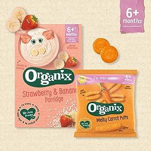 Organix, Weaning Snacks, Baby Snacks, Organic Snacks, Baby Cereal, Baby Puffs