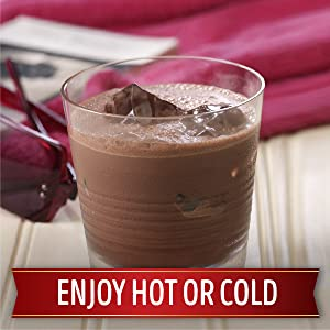 Enjoy Swiss Miss hot chocolate hot or iced