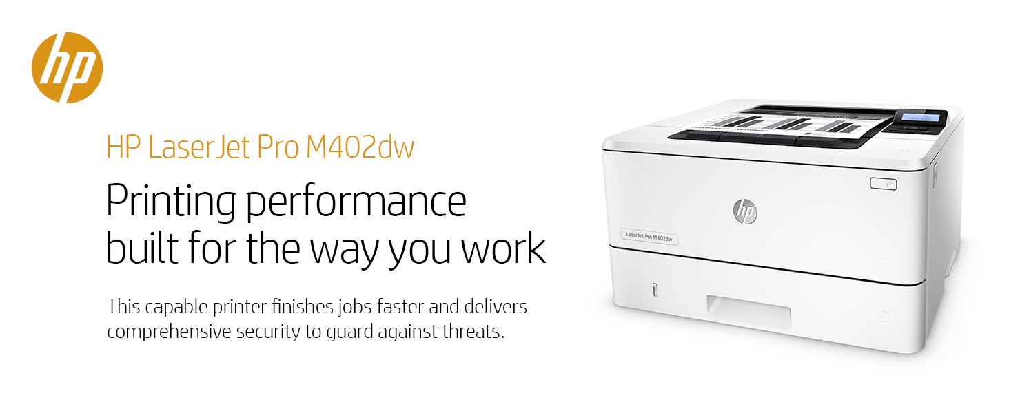 Amazon hp laserjet pro m402dw wireless monochrome printer business office laser printer professional productive productivity fast faster security fandeluxe Gallery