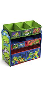 Multi Bin Toy Organizer, Nickelodeon Ninja Turtles