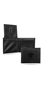 wallet,mens wallet,wallet for women,wallet for men,leather wallet,NFL, Saints, New Orleans Saints