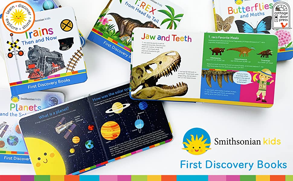 Smithsonian First Discovery Cottage Door Press Dinosaurs Trains Planets Butterflies