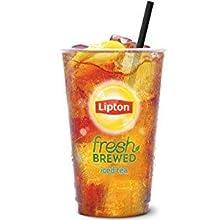 Lipton fresh brewed iced tea in a glass