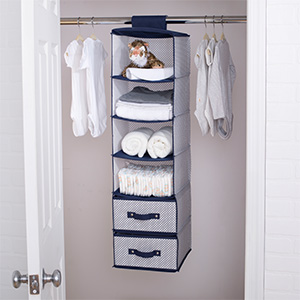 delta children hanging organizer storage closet nursery baby