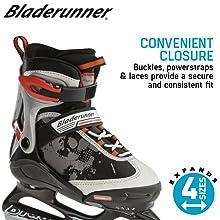 Easy to put on kids ice skates