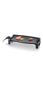 Severin RG 2343 Raclette Partygrill con Piedra Natural, 1500 W ...