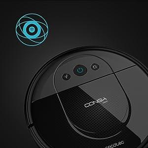 Cecotec Robot aspirador Conga 1890. Tecnología iTech SmartGyro Eye, Cepillo Jalisco, Sensor óptico, 2700 Pa, APP con mapa, Limpieza ordenada, Cepillo mascotas, Alexa & Google Assistant: Amazon.es: Hogar