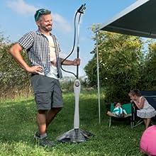 GF Garden Sunny Style Premium Solar, jardín, Ducha para Exterior, Camping, Vacaciones, Verde: Amazon.es: Jardín