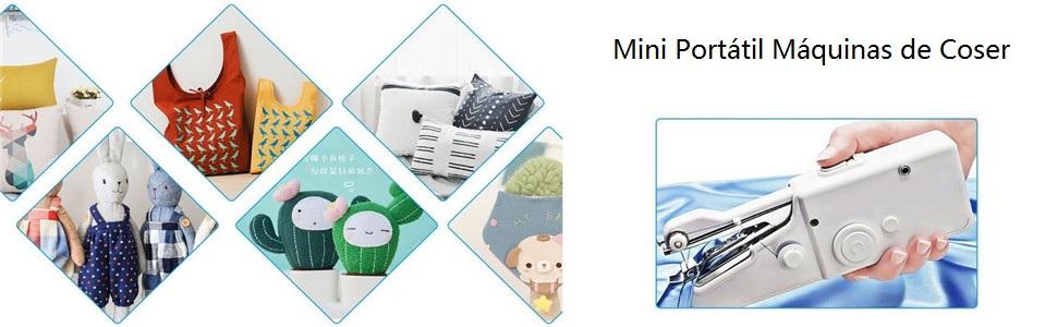 FULUWA Mini Portátil Máquinas de Coser, Manual Portátil ...